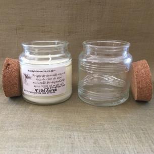 Bougie parfumée extrait de parfum sans alcool artisanale en pot cire naturelle de soja