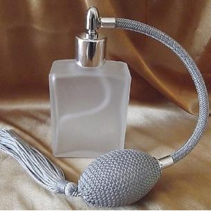 Vaporisateur de parfum poire verre carré givré 60 ml Vaporisateurs de parfum