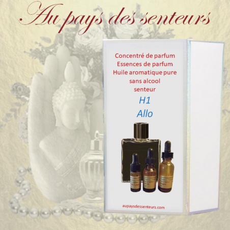 Parfum concentré essence de parfum sans alcool H1 Allo