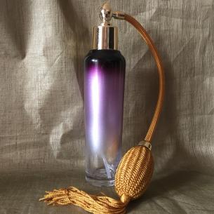 Vaporisateur de parfum vide à poire or bronze