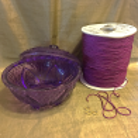 Bougie parfumée en pot artisanale bonbonnière parfum violette pompon artisanal bougie cire naturelle composant