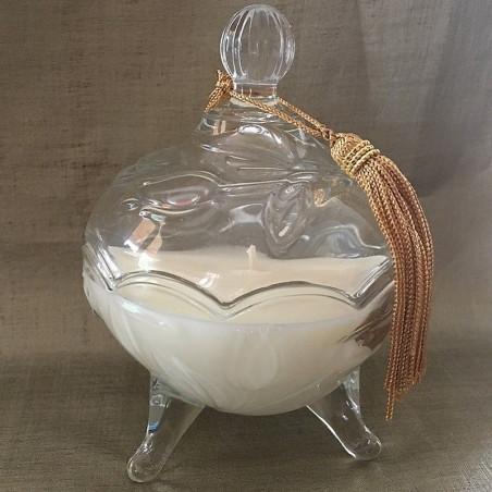 Bougie parfumée chocolat blanc artisanale bonbonnière parfum sans alcool