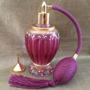 Vaporisateur de parfum artisanal peint à la main et Cristal de Swarovski avec entonnoir or