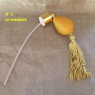 Poire de rechange pour vaporisateurs de parfum courte pompon+ atomiseur de parfum or mordoré