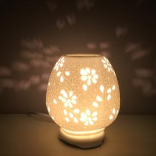 Lampe diffuseur de galets cire