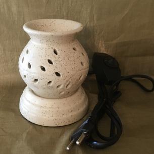 Lampe diffuseur de parfum  céramique artisanale boule