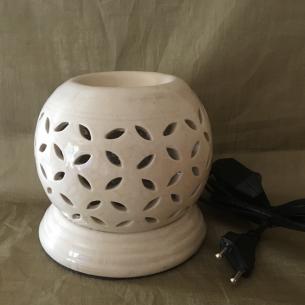 Lampe diffuseur de parfum ivoire