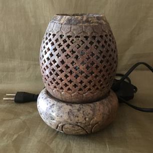 Lampe diffuseur de parfum pierre de lave Stéatite  artisanale