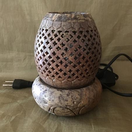 Lampe diffuseur de parfum pierre de lave artisanale