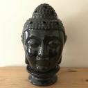 Diffuseur de parfum lampe artisanale tête de bouddha noir