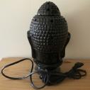 Lampe diffuseur de parfum  céramique artisanale bouddha noir dos