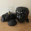 Lampe diffuseur de parfum buste bouddha noir 31 cm céramique  artisanale séparée