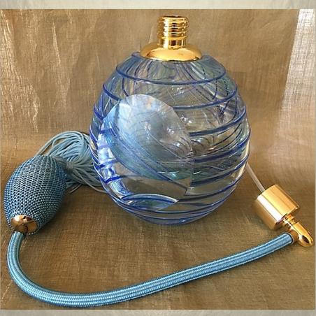 Vaporisateur de parfum poire bleu de luxe verre artisanal 110 ml vide et rechargeable Luxe verre artisanal - Au pays des sent...
