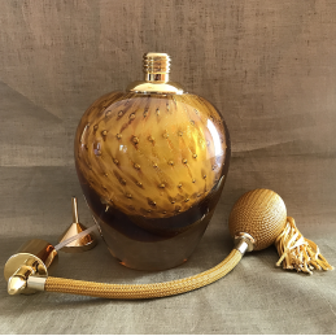 Vaporisateur de parfum poire verre artisanal de luxe 90 ml vide et rechargeable Luxe verre artisanal