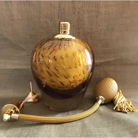 Vaporisateur de parfum poire verre artisanal de luxe 90 ml vide et rechargeable Luxe verre artisanal - Au pays des senteurs