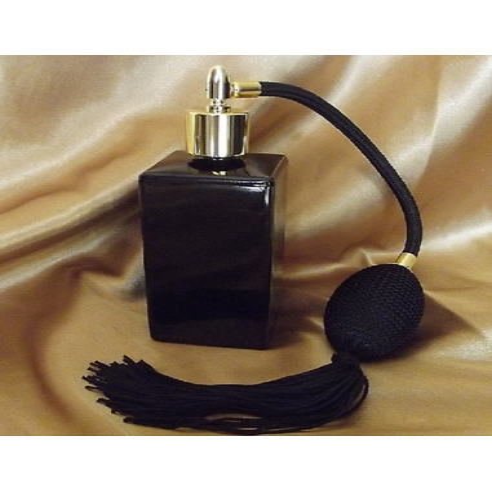Vaporisateur de parfum poire rétro noire vide et rechargeable modèle noir rectangle 100 ml Vaporisateurs de parfum - Au pays ...