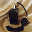 Vaporisateur de parfum poire rétro noire vide et rechargeable modèle noir rectangle 100 ml