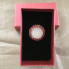 Parfum solide bague cristal de Swarovski artisanale plaqué or boîte cadeaux