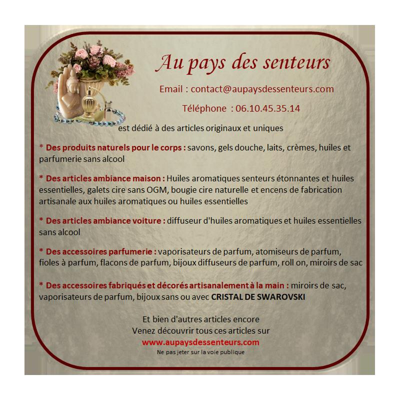 Vaporisateur de parfum poire artisanal 90 ml Luxe verre artisanal