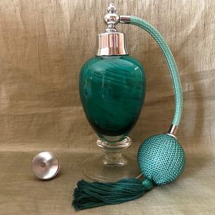 Vaporisateur de parfum poire de luxe verre artisanal 80 ml vert