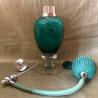 Vaporisateur de parfum poire de luxe verre artisanal 80 ml vert ouvert