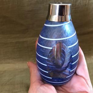 Vaporisateur de parfum luxe en verre bleu 60 ml  - 4