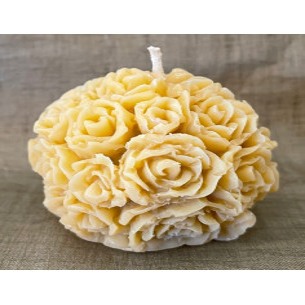 Bougie sculpture décorative artisanale cire naturelle de soja. Modèle boule 5,5 cm. Personnalisable