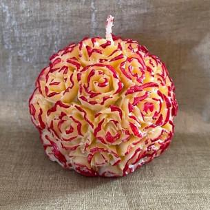 Bougie décorative sculpture parfumée chouchou chaud artisanale boule de rose
