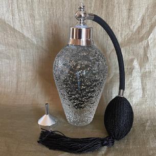 Vaporisateur de parfum luxe en verre pailleté 90 ml Luxe verre artisanal