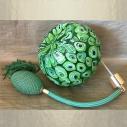 Vaporisateur de parfum poire vert de luxe verre artisanal 285 ml vide et rechargeable grande contenance