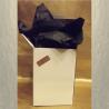 Vaporisateur de parfum poire courte de luxe en verre artisanal glacé gris anthracite vide et rechargeable 140ml