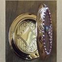 Pilulier cristal de swarovski fire opal AB plaqué or rose antique artisanal