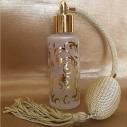 Vaporisateur de parfum verre givré poire rétro or plaquage motifs couleur or 50ml