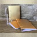 Tubes - fioles échantillons de parfum avec sa pochette cadeau or