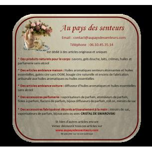 Pendentif fiole à parfum en verre bouchon argent étanche 2ml  - 3