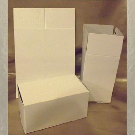 Petite boite carton blanche / Emballage rectangle 13,5 x 7,5 x 7,5 cm