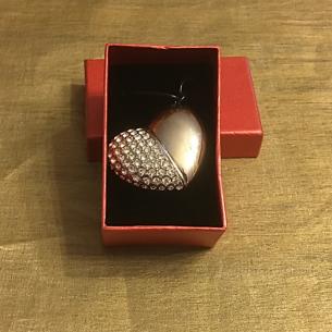 Clé USB Cœur diamanté 16 GO, 32 GO couleur argent  - 1