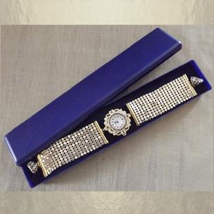 Écrin bracelet bleu, montre...