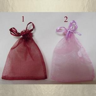 Pochettes / sac en organza 10 x 12 cm  - 1