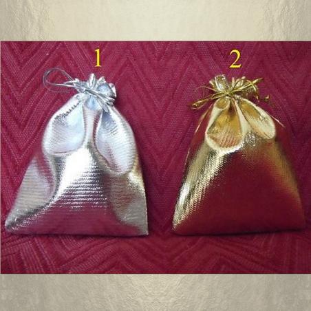 Pochettes / sac  couleur or ou argent 10 x 12 cm
