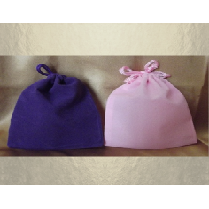 Pochettes / sac / pochon en suédine / velours violet ou rose  - 1