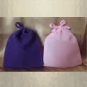 Pochettes / sac / pochon en suédine / velours violet ou rose
