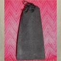 Pochette cadeaux, sac, pochons en tissus suédine noir 10 cm X 22 cm