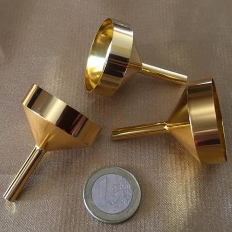 Grand entonnoir pour vaporisateur de parfum en métal couleur or