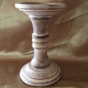 Chandelier, bougeoir en bois patiné artisanal bougie pilier, bougie sculpture, bougie décorative