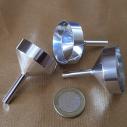 Grand entonnoir pour vaporisateur de parfum en métal couleur argent