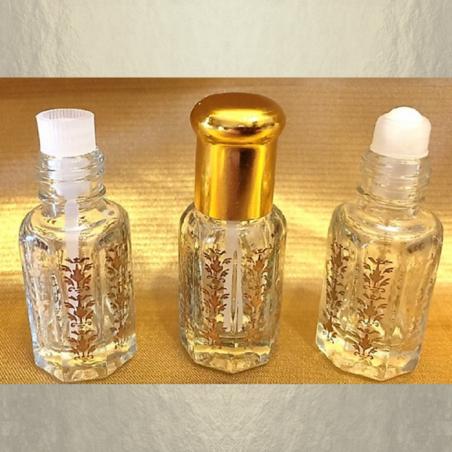 Roll-on de parfum en verre vide et rechargeable double applicateur