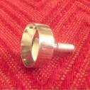 Petit entonnoir pour vaporisateur de parfum en métal couleur argent