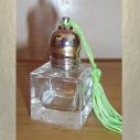 Roll-on en verre vide et rechargeable 6 ml avec pompon modèle carré