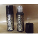 Roll on de parfum verre noir et or givré avec bille en métal finition à la main 10 ml